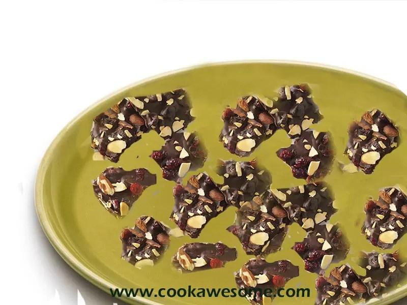 Cranberry Almond Dark Chocolate Bark Recipe