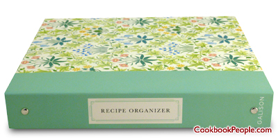 Arts & Crafts style recipe organizer