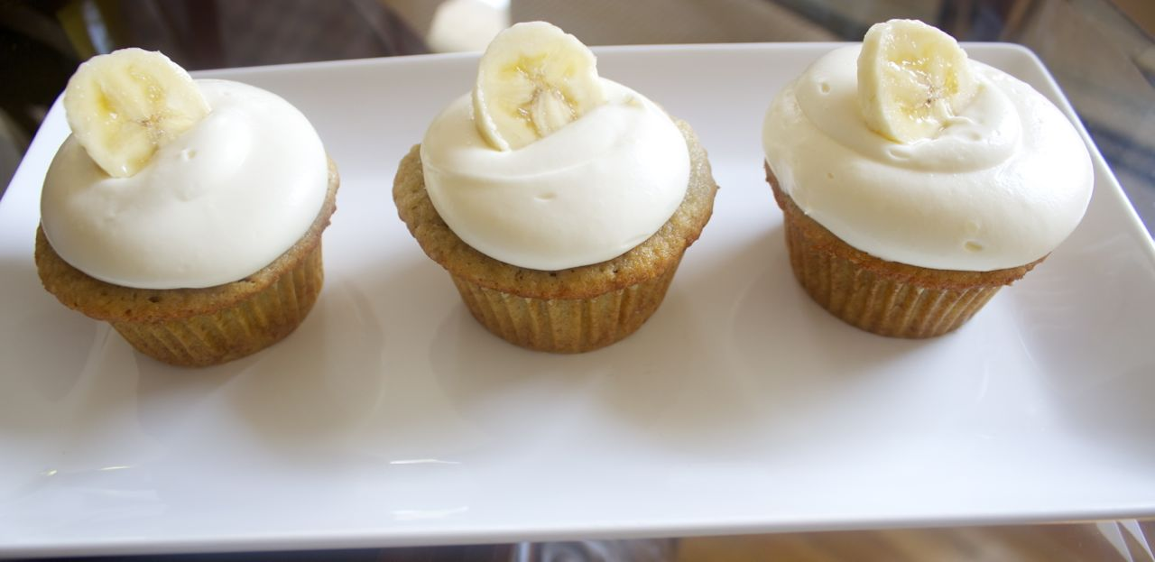 These delicious banana cupcakes are cute and super easy to make.