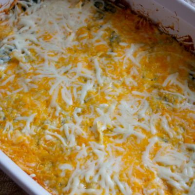 Cheesy Spinach and Onion Casserole