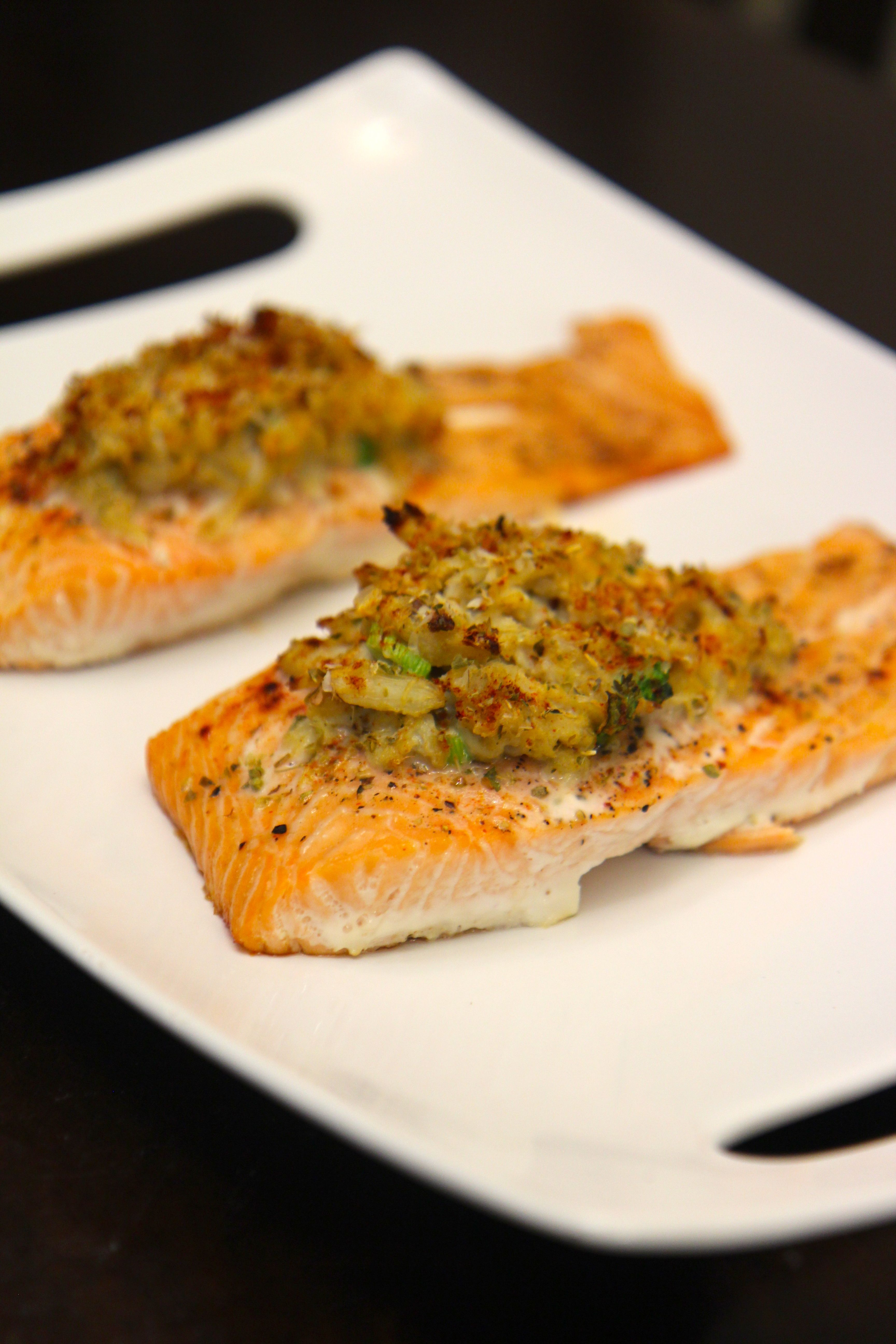 The salmon is flavorful and moist as well as a quick meal to prepare.