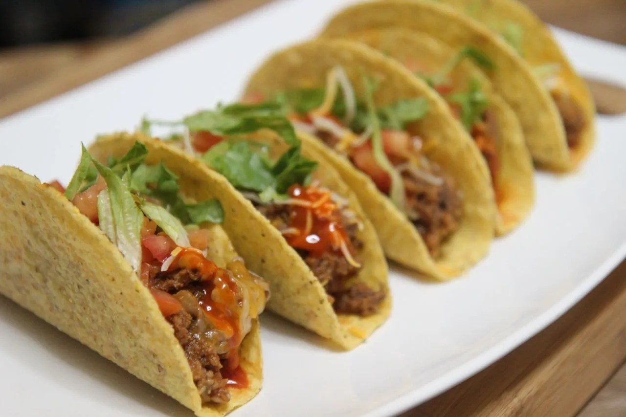 It's taco night tonight! This simple beef hard shell tacos are better than fast food.