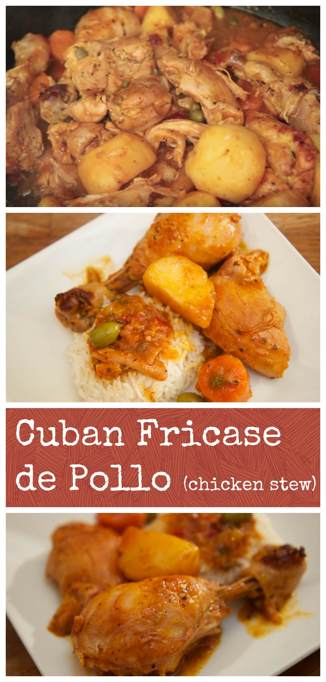 Cuban Chicken Stew | Cuban Chicken Fricassee | Cuban Dishes | Cooked By Julie