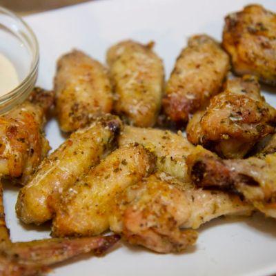 Baked Garlic Parmesan Wings