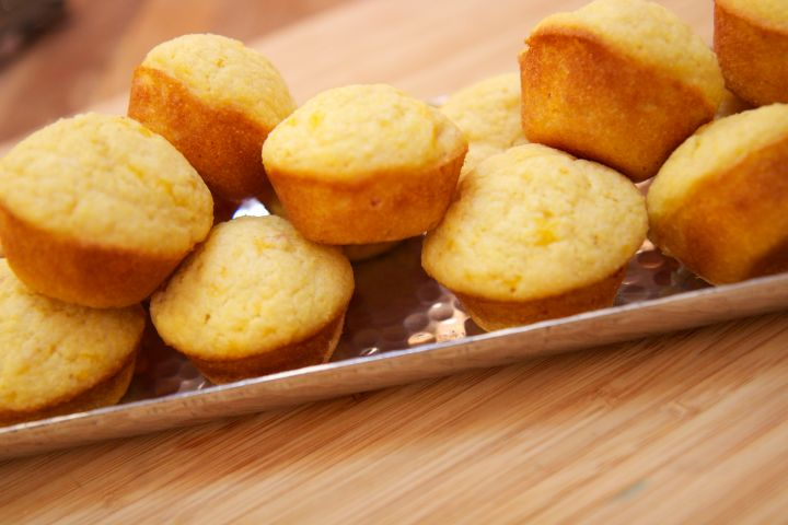 These Ham and Cheese Corn Muffins by Cooked By Julie are perfect for a dinner side or poppable snack.