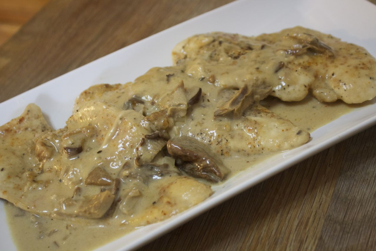 Cheese Mushroom Chicken from Cooked by Julie