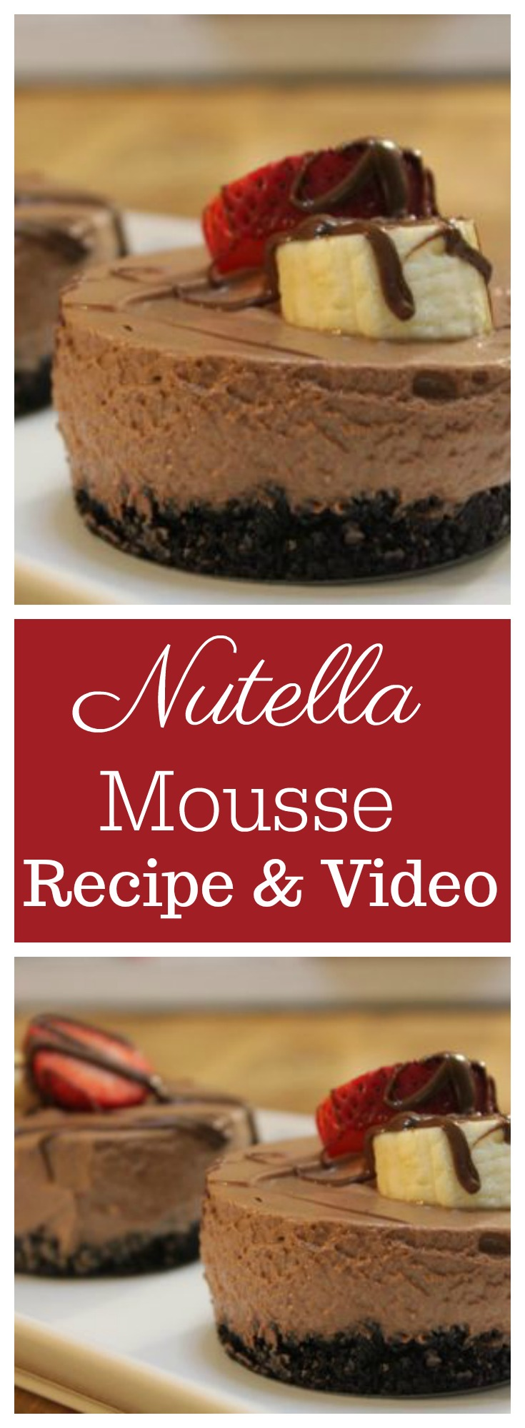 Nutella Mousse from Cooked by Julie