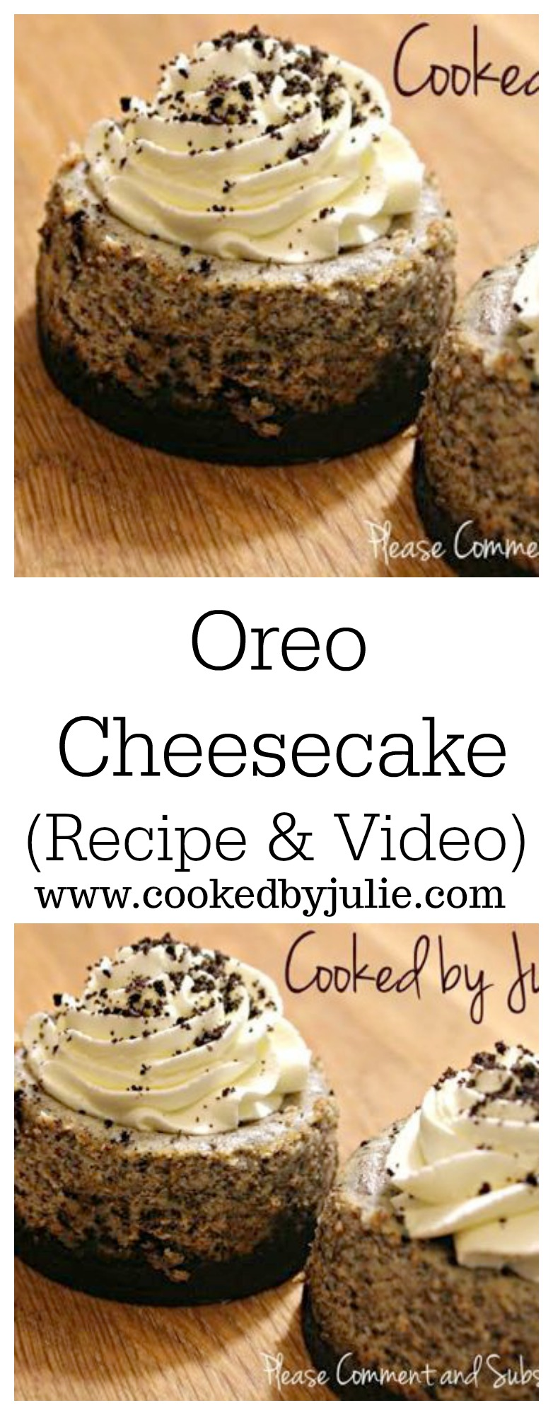 Mini Oreo Cheesecake Bites | Recipe with Video by Cooked By Julie