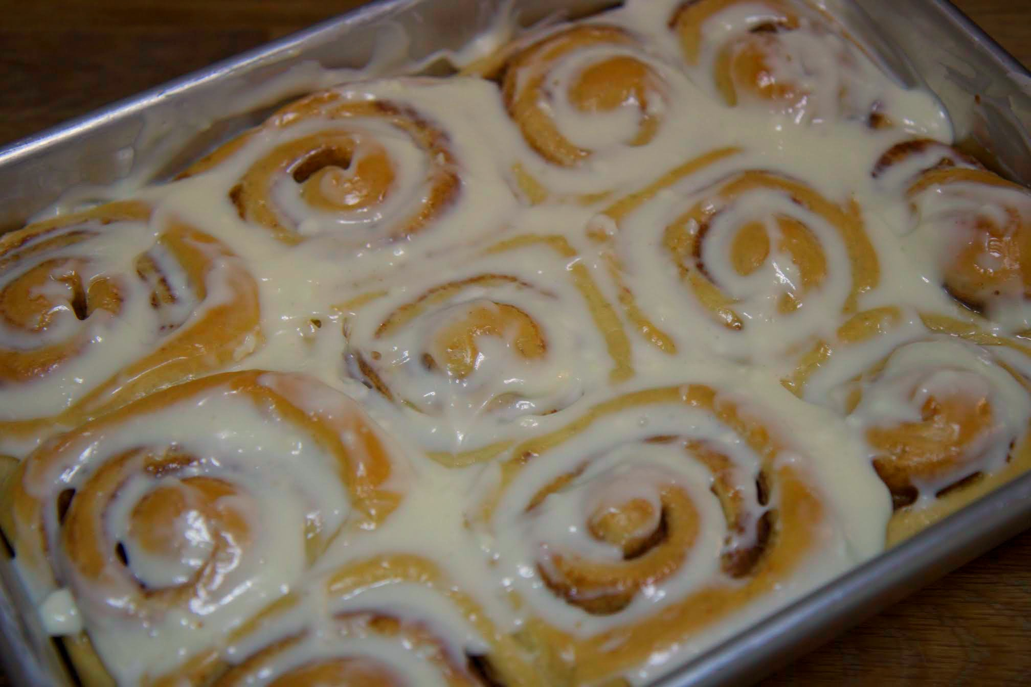 These homemade cinnamon rolls are gooey and delicious, the perfect weekend breakfast treat.