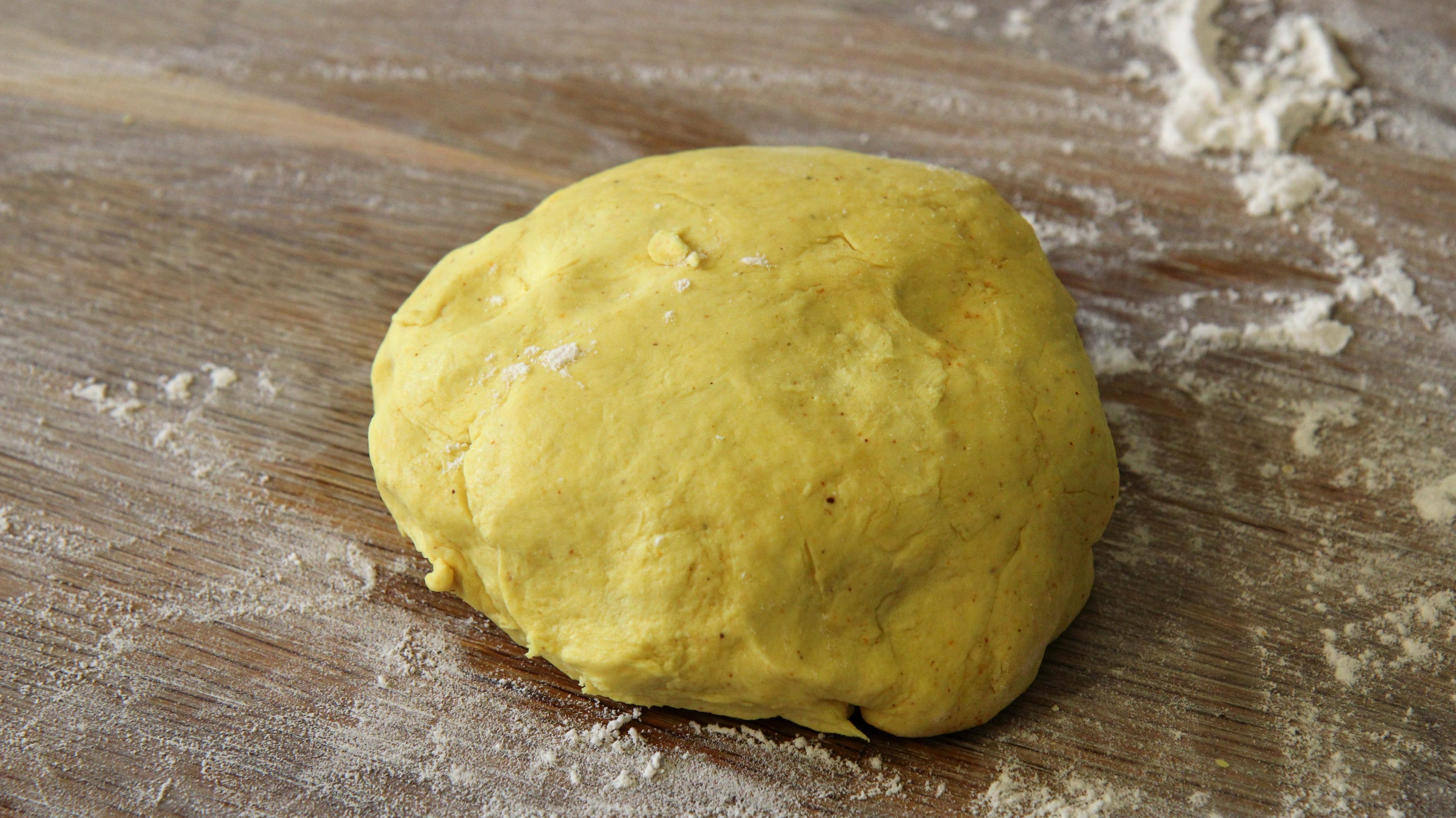 a ball of yellow dough.