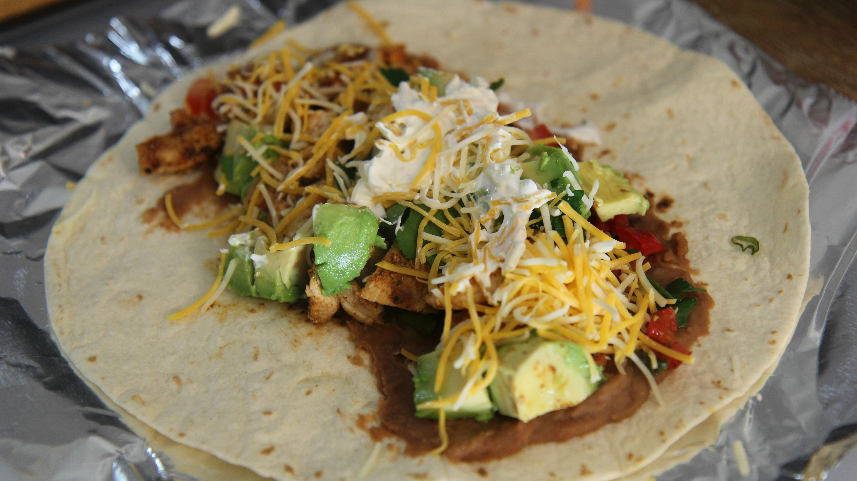 Tex-Mex Grilled Chicken Wrap | Cooked by Julie