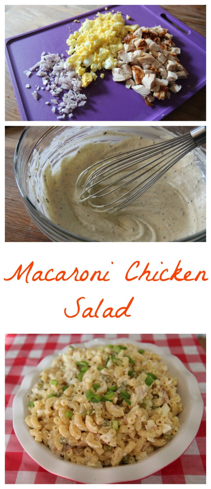 Creamy Macaroni Chicken Salad from Cookedbyjulie.com