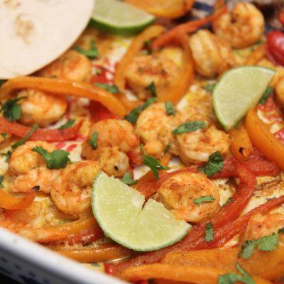Roasted Shrimp Fajitas