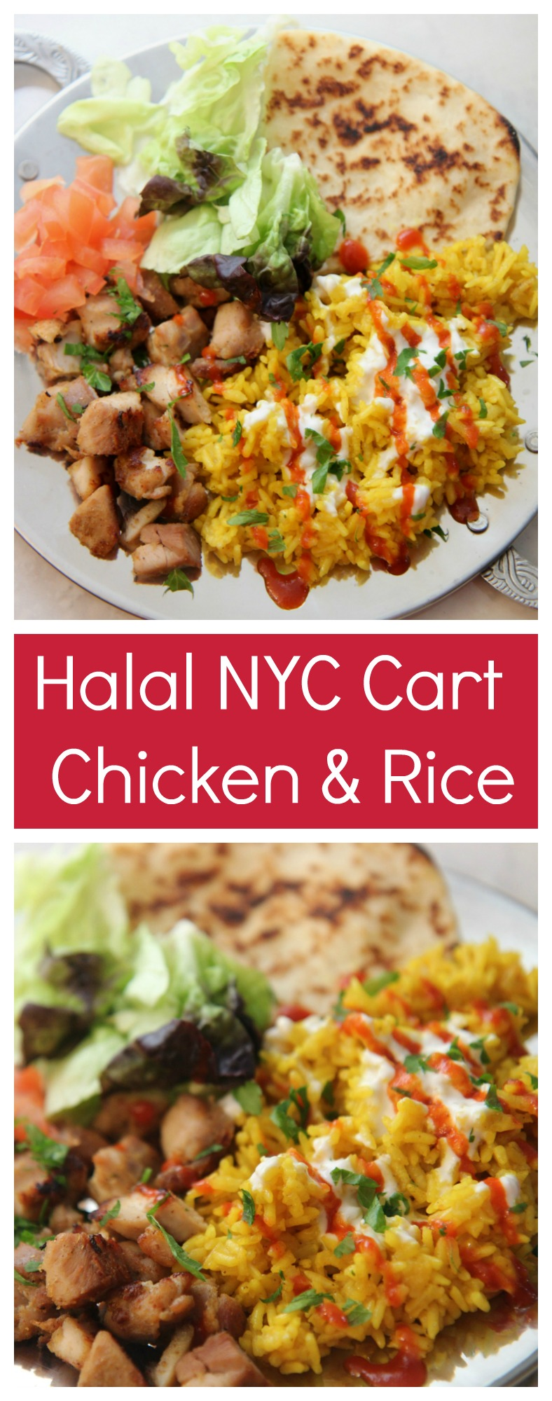 This Halal NYC Cart Chicken and Rice recipe can be found at cookedbyjulie.com