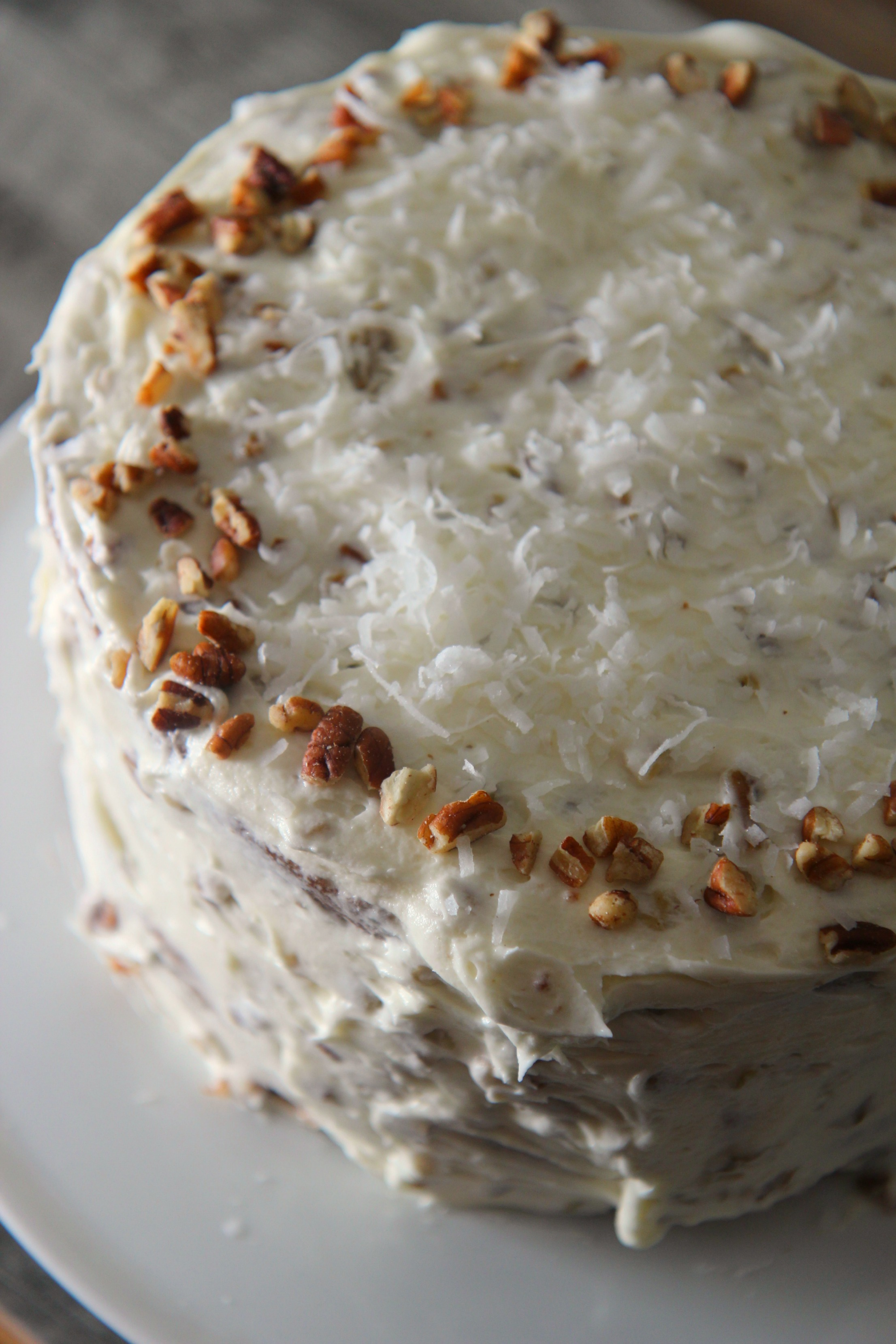 This Italian Cream Cake is nutty and sweet!