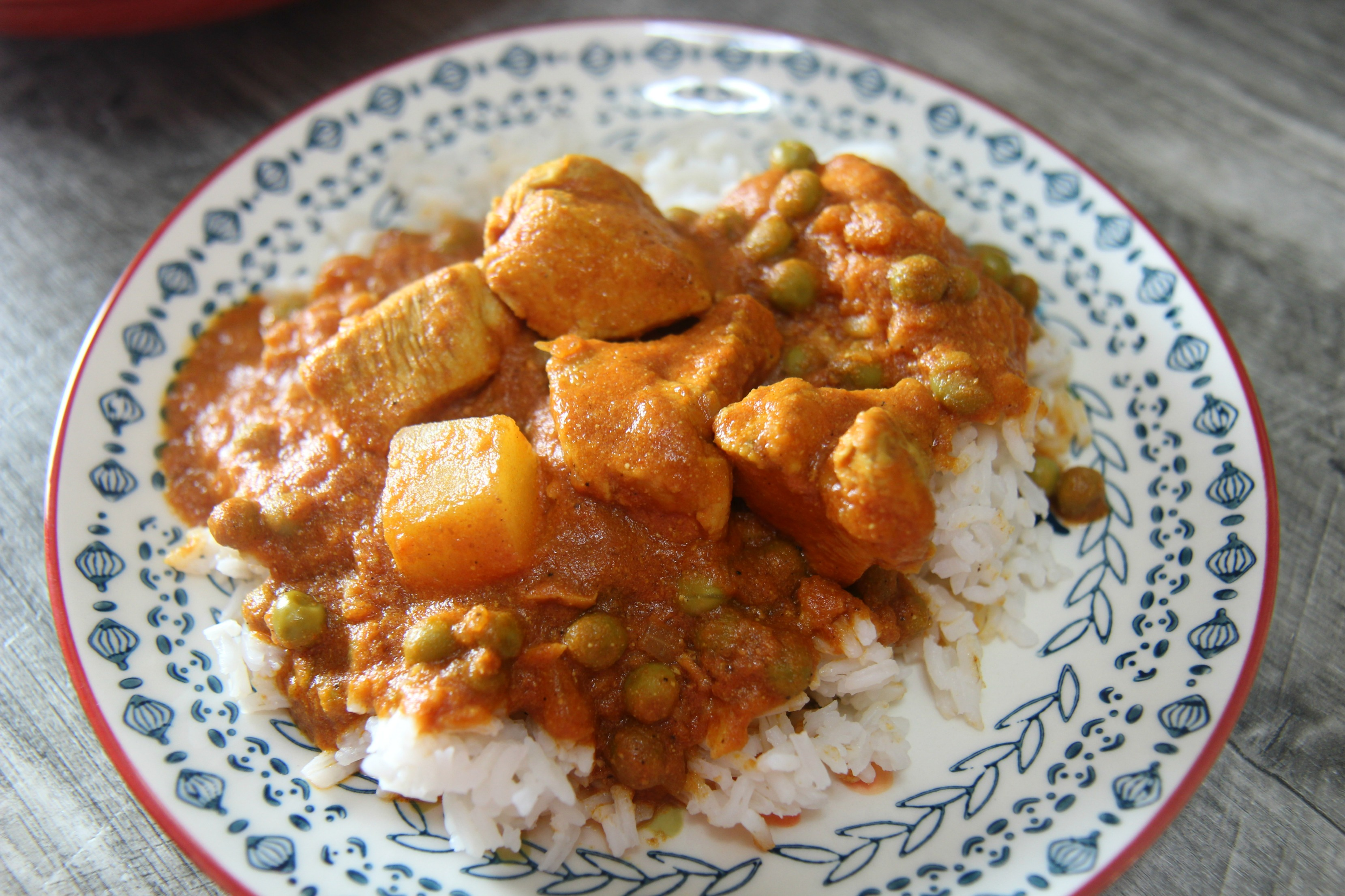 Served over rice, this coconut chicken curry is a delicious at-home Indian meal