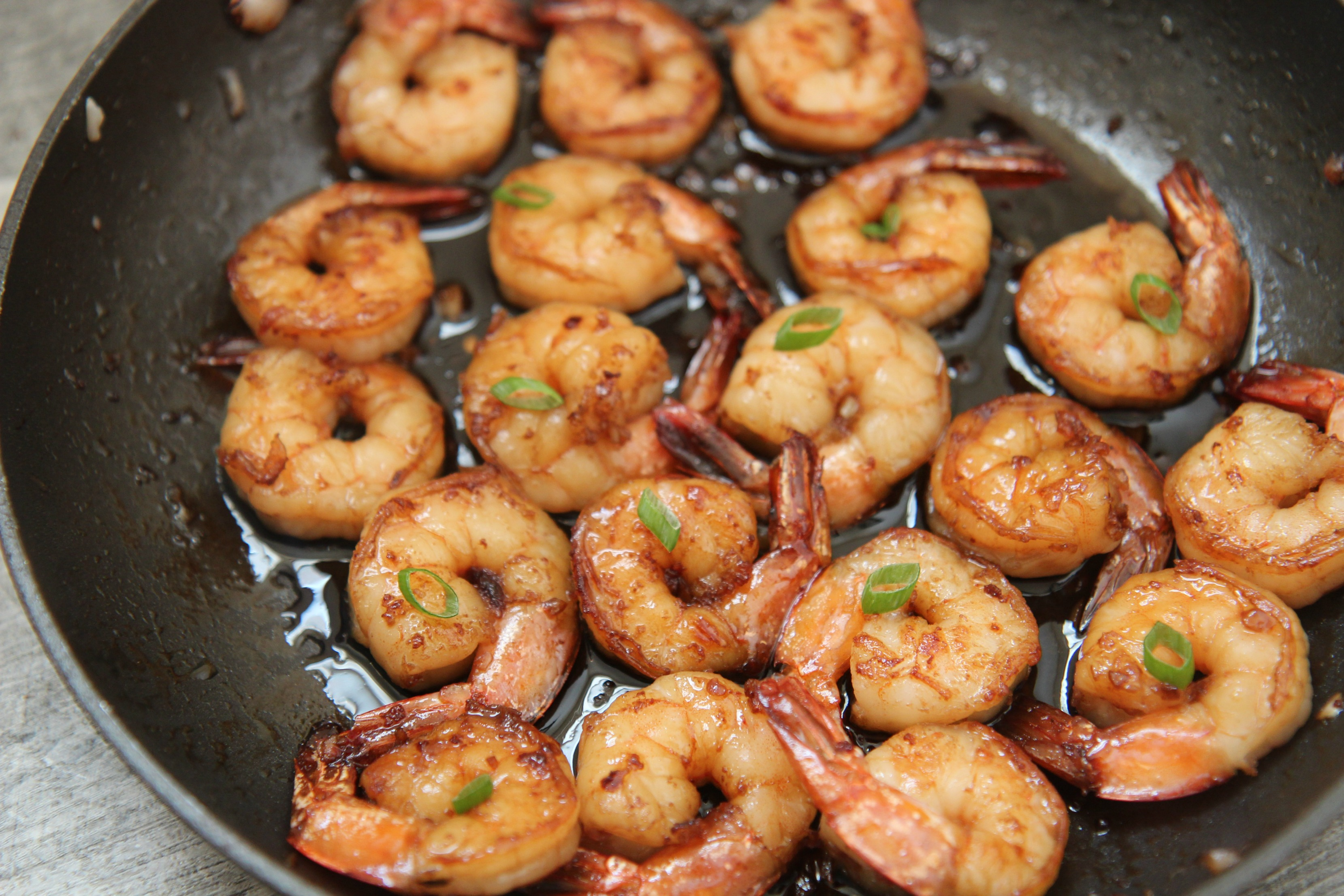 Honey Garlic Shrimp from Cooked By Julie
