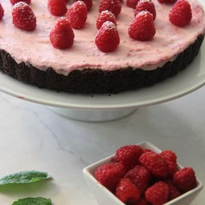No Bake White Chocolate Raspberry Tart