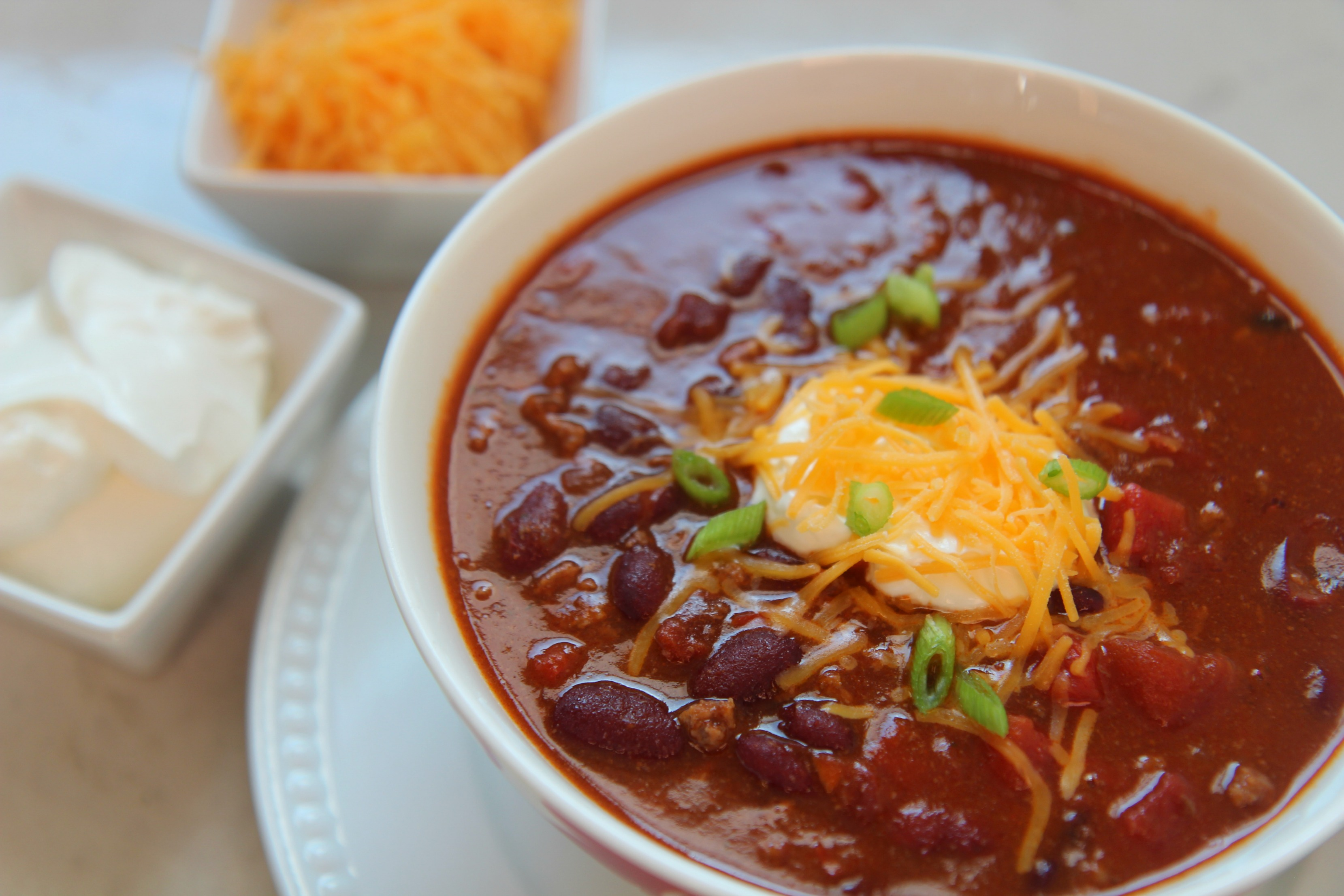 This hearty homemade chili is made with a can of salsa for an extra rich flavor