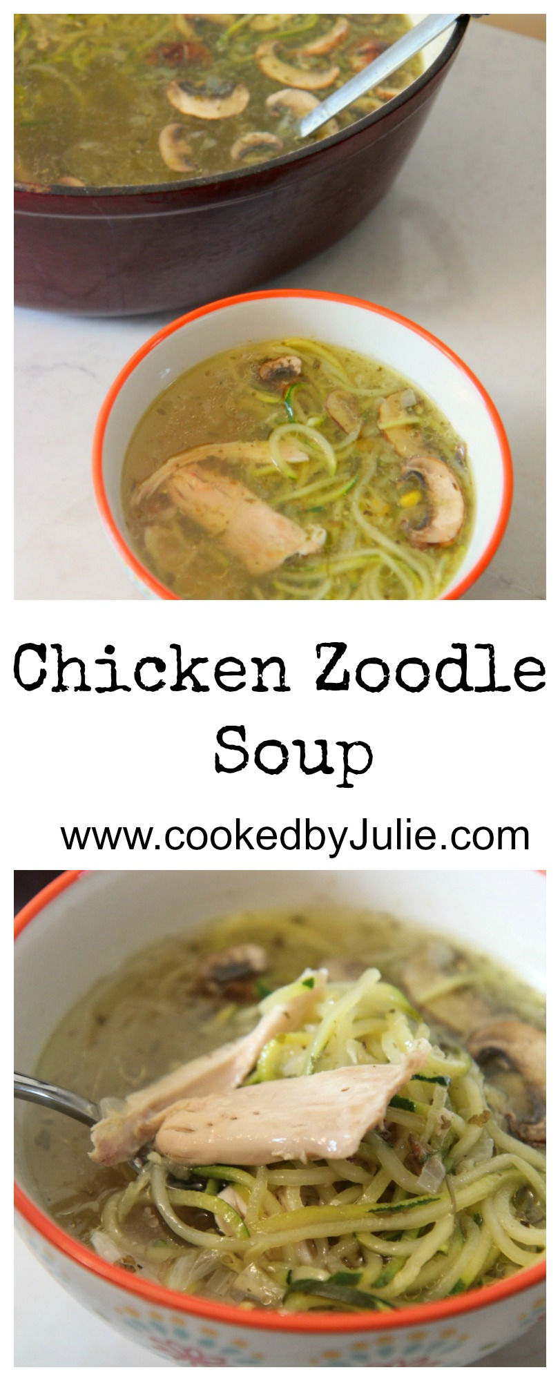 Chicken Zoodle Soup Recipe | Chicken Soup with Zucchini Noodles