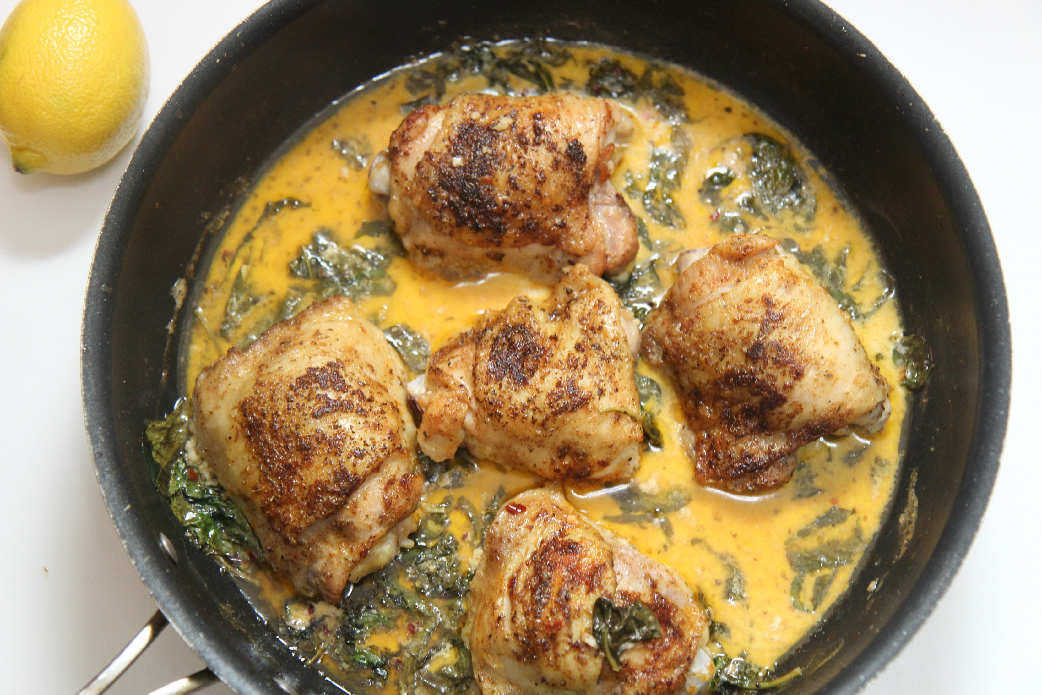 Vegetable and citrus help make the chicken develop complex flavors.