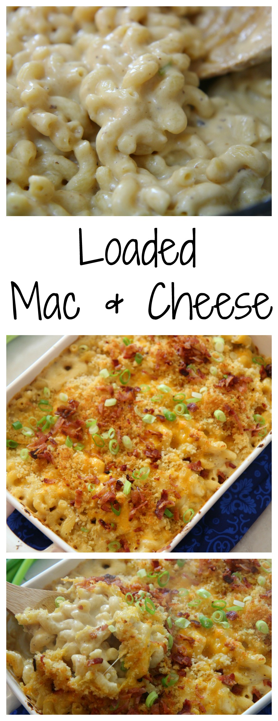 Learn how to make this loaded Mac & Cheese at CookedbyJulie.com