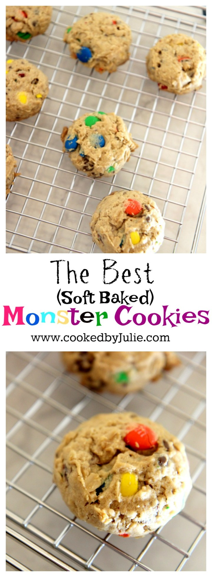 The Best Soft Baked Monster Cookie Recipe from Cooked By Julie