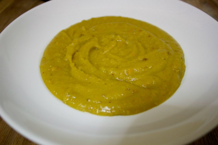 This spicy split pea soup is flavorful and healthy, perfect for a cold winter night