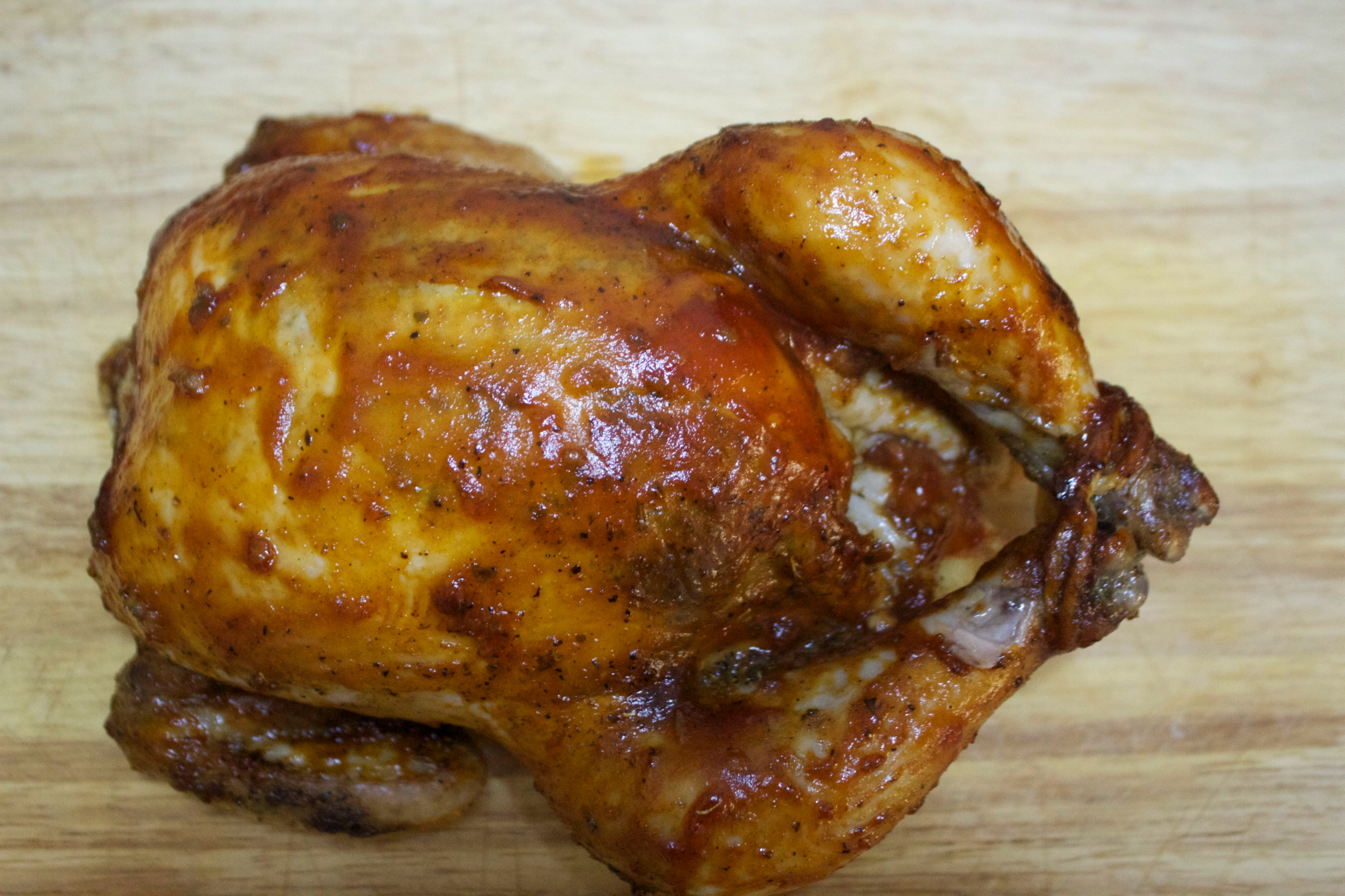 Tender and juicy barbecue roasted chicken
