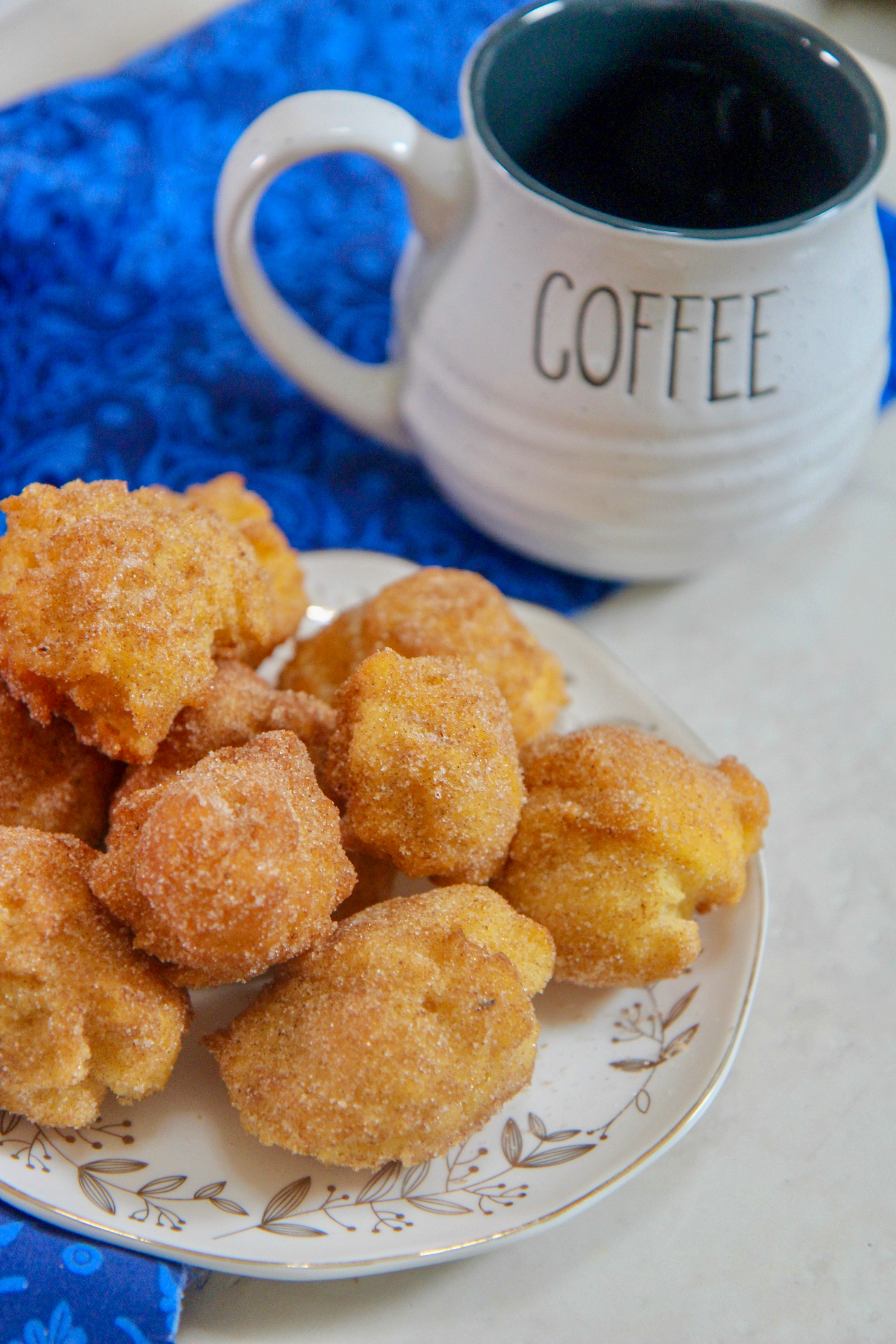 Fluffy light donut holes that are perfect for breakfast or as a snack