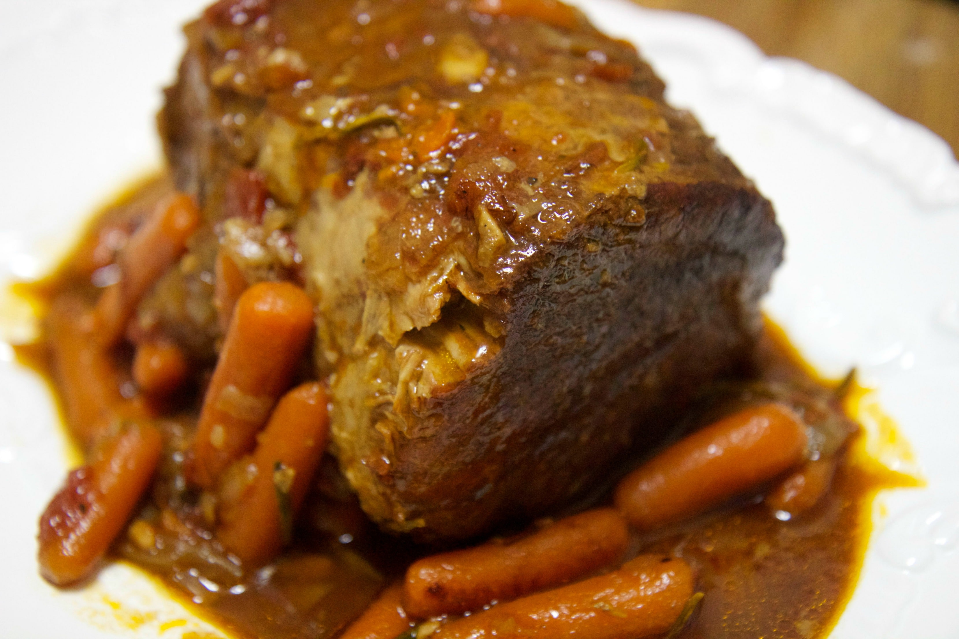 pot roast with carrots and onions