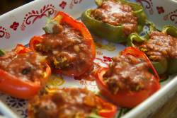 stuffed bell peppers with ground beef and rice