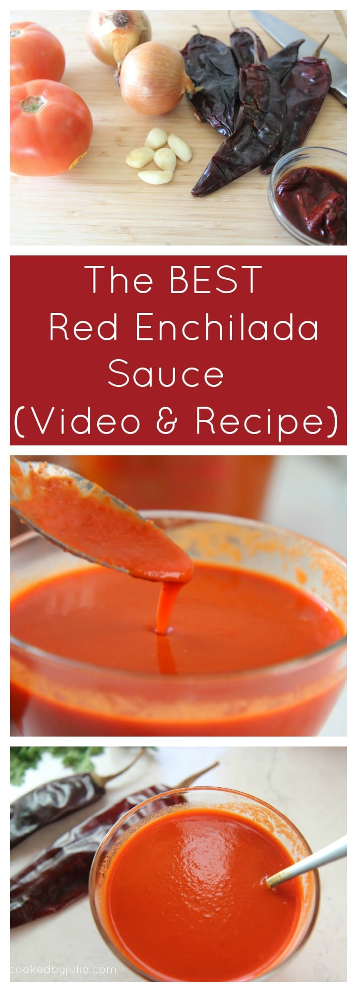 The Best Homemade Red Enchilada Sauce   Recipe and Video from Cooked By Julie