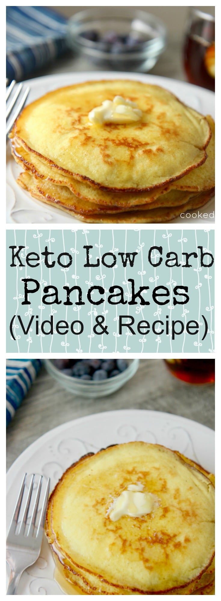 Keto Pancakes - 10 Minute Low Carb Pancake Recipe
