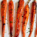 roasted carrots garnished with fresh parsley