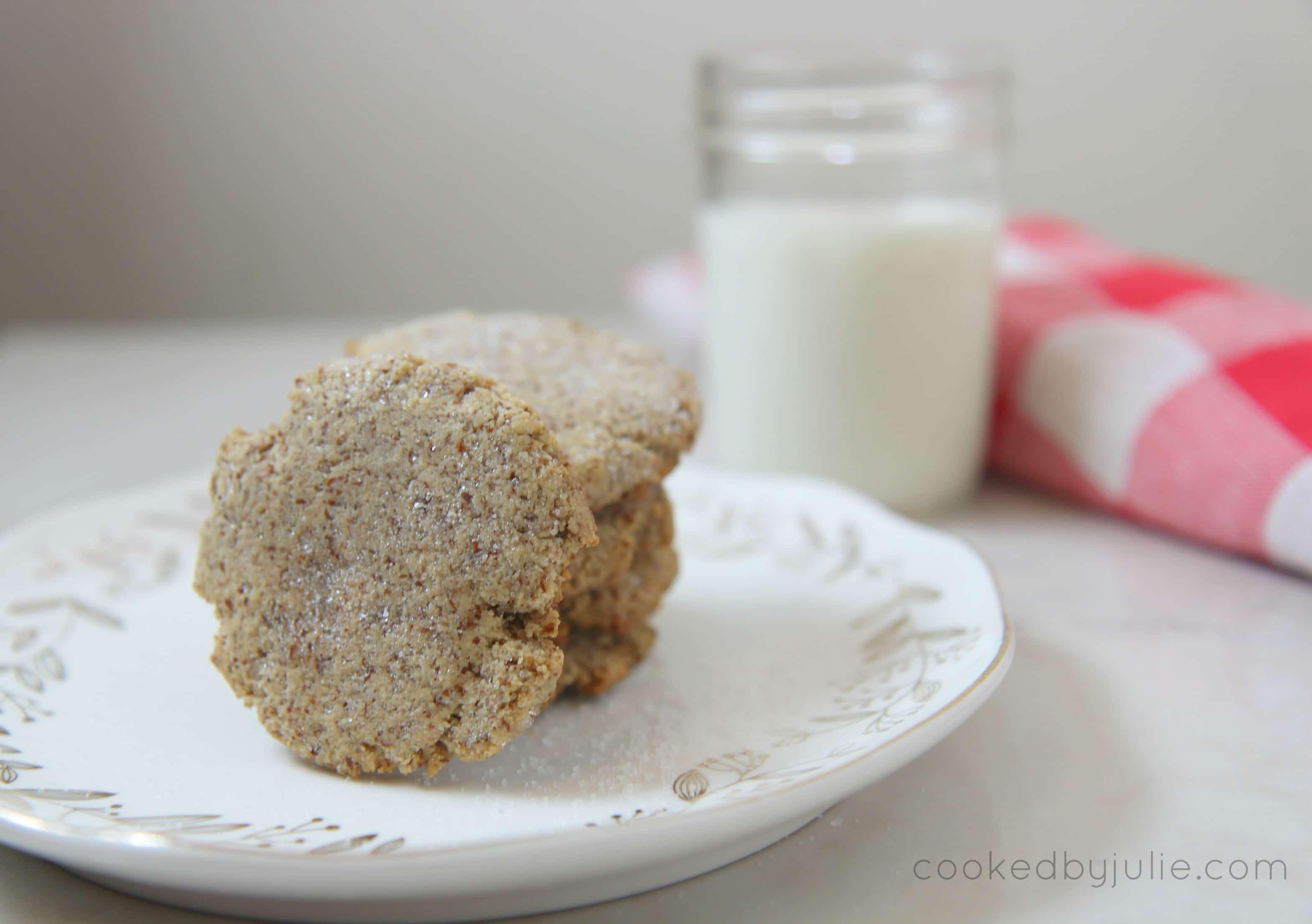 keto friendly sugar cookies and milk
