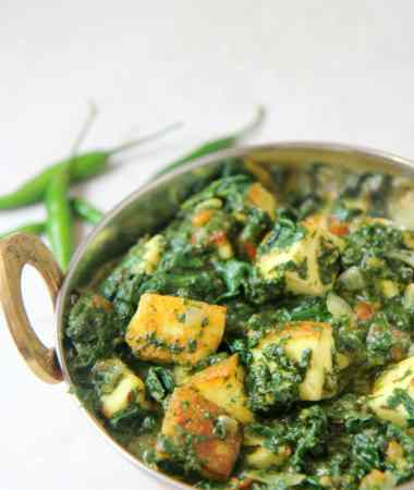 Saag Paneer (spinach and paneer)