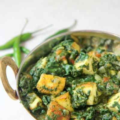 Saag Paneer – Keto Friendly, Gluten-Free, Vegetarian