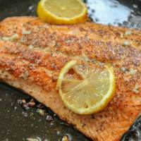 Pan Seared Salmon with Lemon Butter
