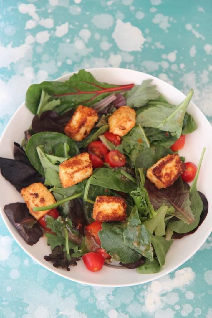 Marinated Paneer Warm Salad