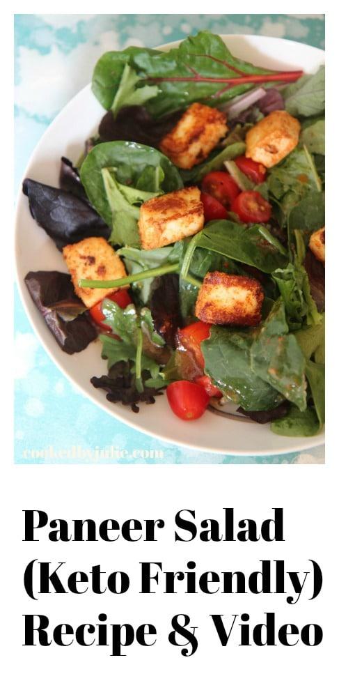 Paneer Salad Keto friendly