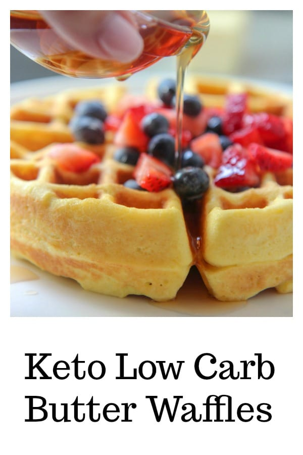 Keto Low Carb waffles with fruit