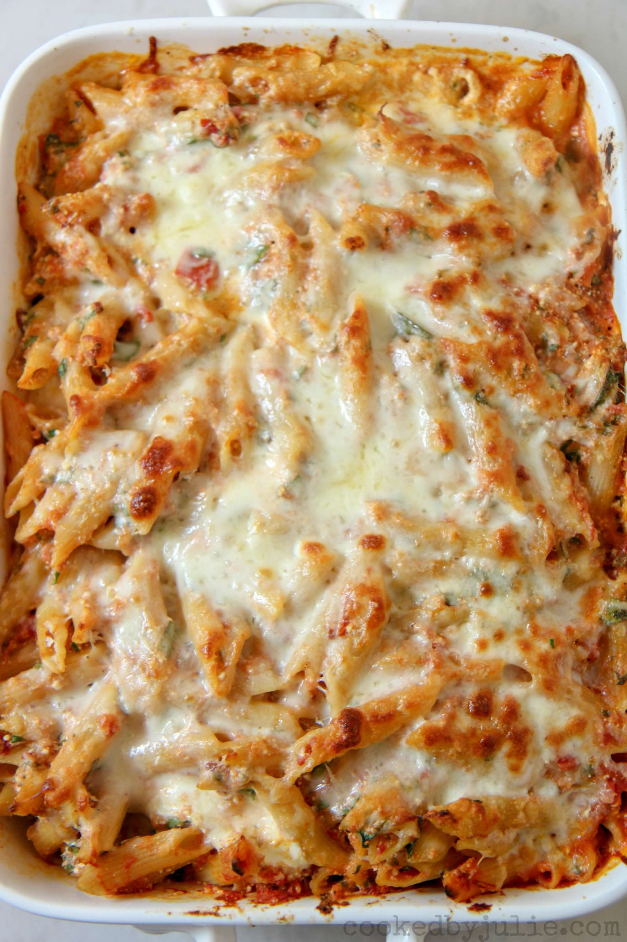 spinach baked ziti