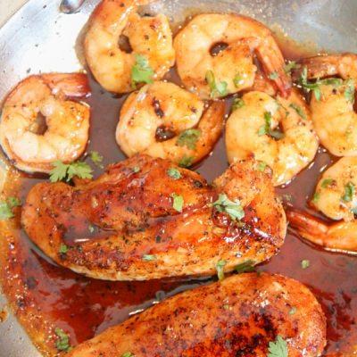 Jack Daniel's Chicken & Shrimp