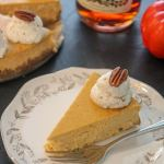 Pumpkin Cognac Cheesecake Slice