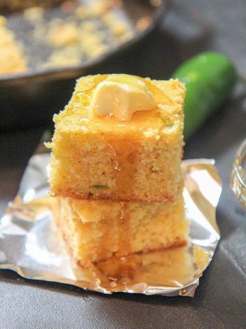 honey cheddar jalapeno cornbread