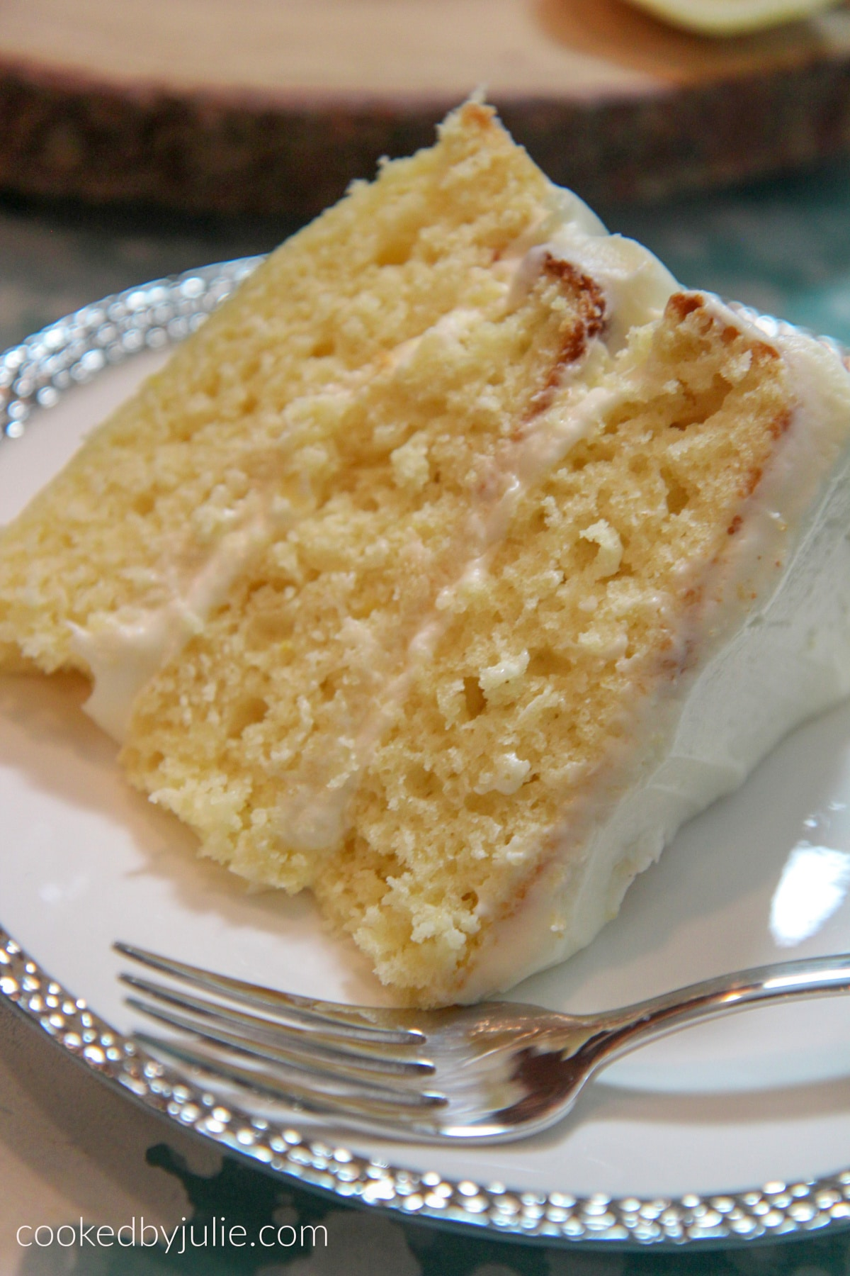 Lemon Cake with Cream Cheese Buttercream