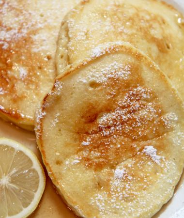 Fluffy lemon ricotta pancakes