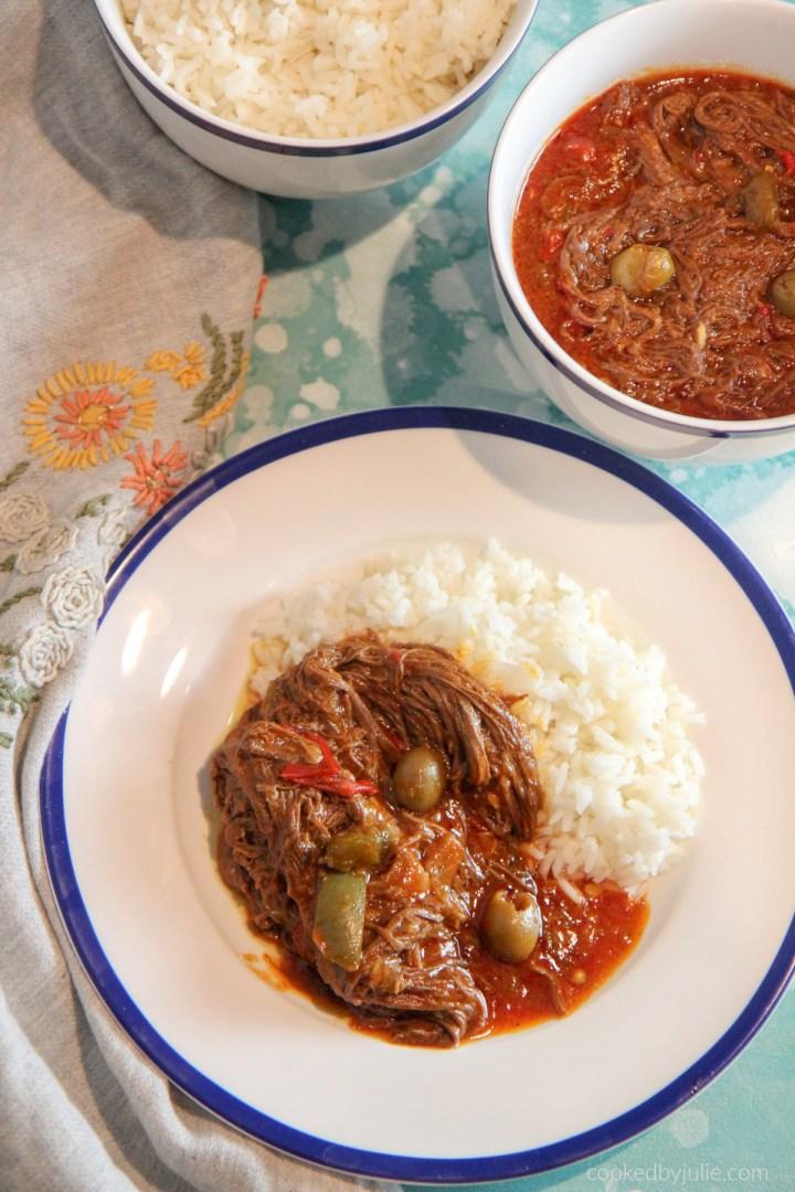 ropa vieja and white rice