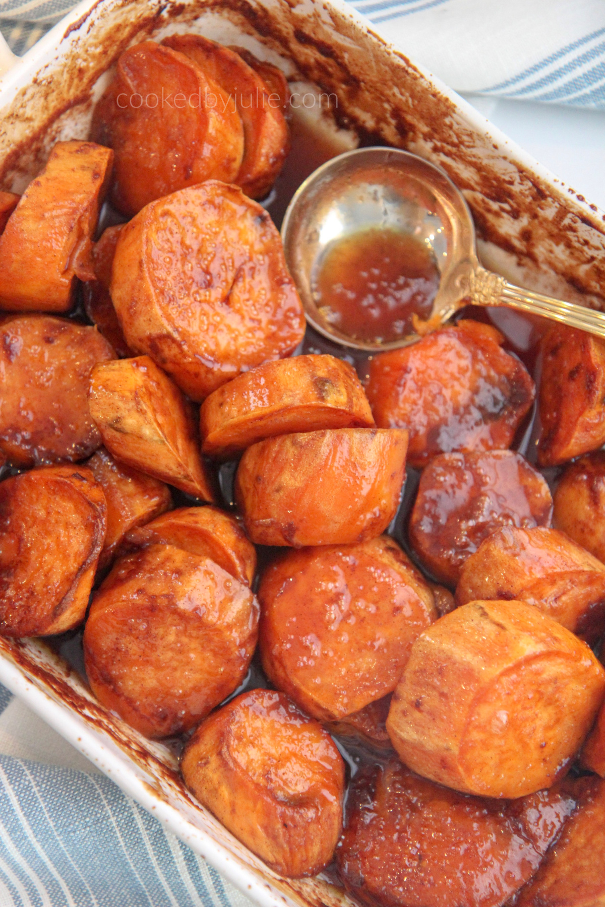Baked Candied Yams Recipe Video Cooked By Julie